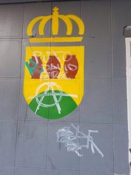 Pintadas contra David Pérez en la sede de C's de Alcorcón