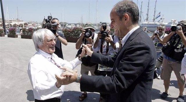 Francisco Camps y Bernie Ecclestone