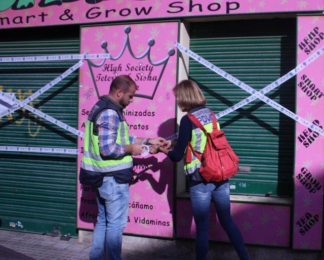 Cierre de una grow shop en Palma
