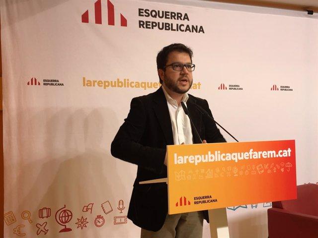 El secretario general de política económica de ERC, Pere Aragonès
