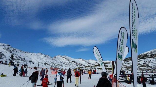 Alto Campoo , nieve