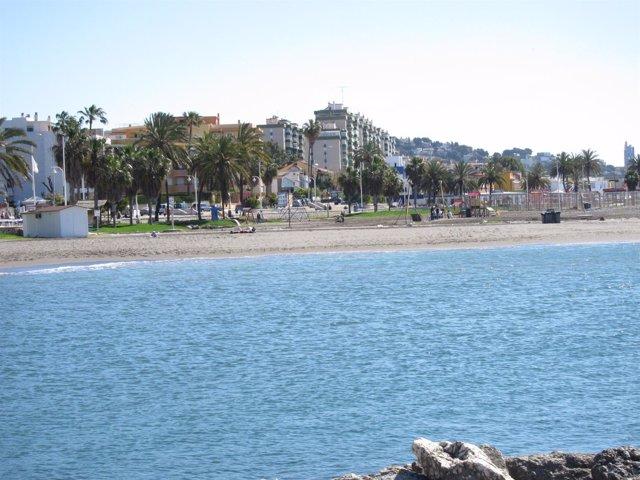 Playa De Pedregalejo, En Málaga Capital
