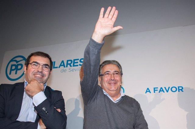 Juan Ignacio Zoido, en un acto del PP en Alcalá de Guadaíra