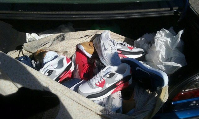 Las zapatillas deportivas 'Nike' falsificadas en Sevilla