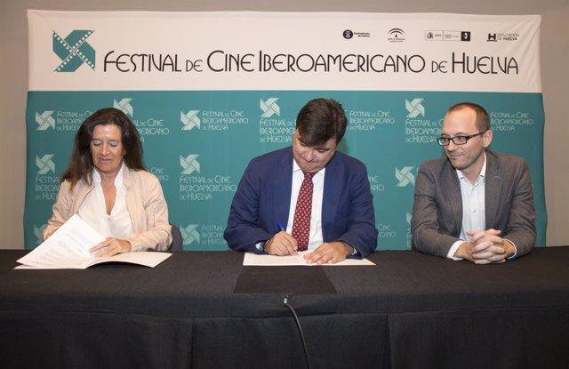 Convenio entre el Festival de Cine Iberoamericano de Huelva y Cruzcampo