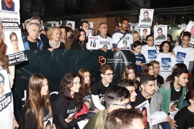 Concentración por el joven desaparecido en 2015
