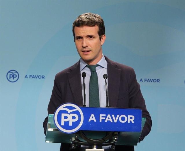Pablo Casado, vicesecretario de Comunicación del PP