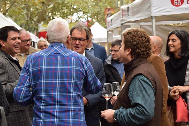 Artur Mas en la V Gran Festa del Vi de Igualada (Barcelona)
