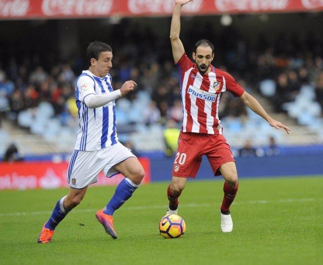 El jugador del Atlético de Madrid Juanfran Torres