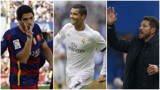 Luis Suárez Cristiano Ronaldo Simeone Premios Marca