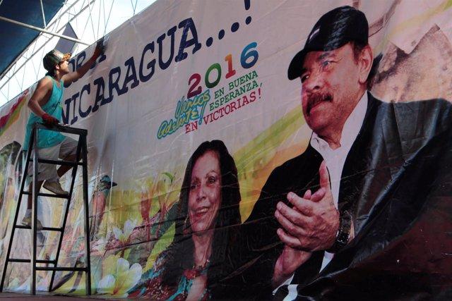 Cartel de las elecciones presidenciales en Nicaragua