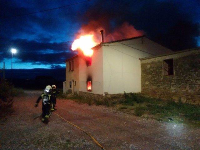 Incendio en una vivienda de Traibuenas