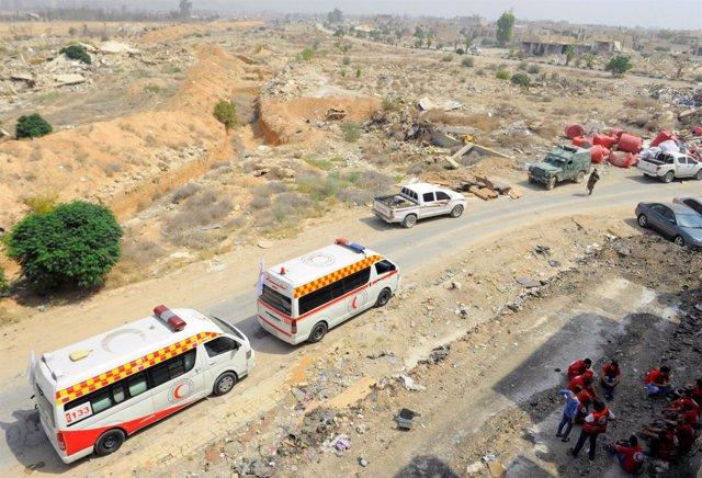 Ambulancias en la región de Damasco