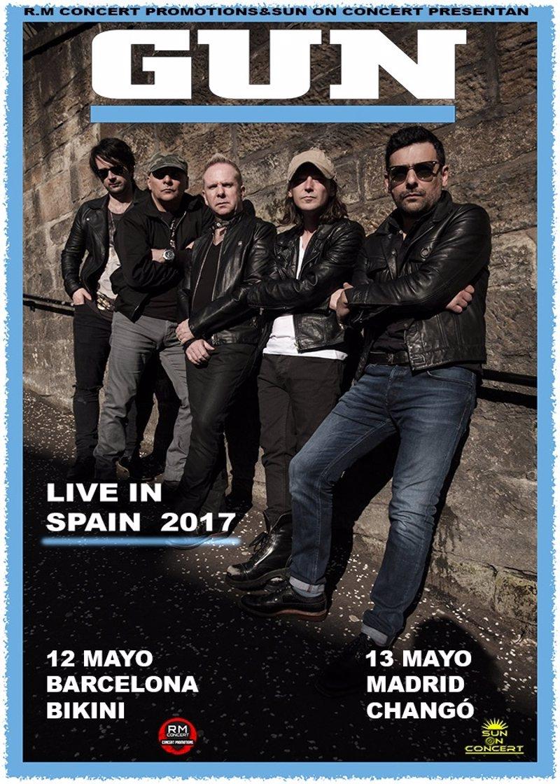 Gun actuar n en barcelona y madrid en mayo de 2017 for Eventos madrid mayo 2017