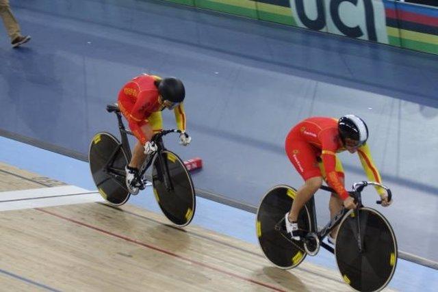 Tania Calvo y Helena Casas ciclismo pista oro velocidad Copa Mundo Glasgow