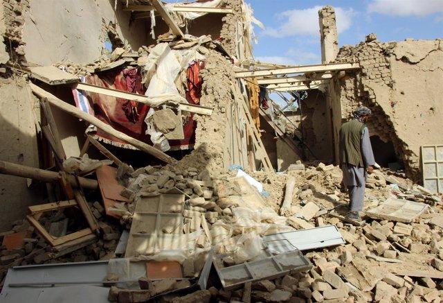 Bombardeo de EEUU en un barrio de Kunduz, Afganistán