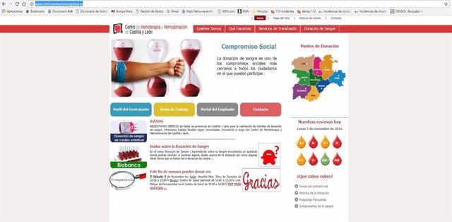 Llamamiento del Centro de Hemoterapia y Hemodonación para donar sangre