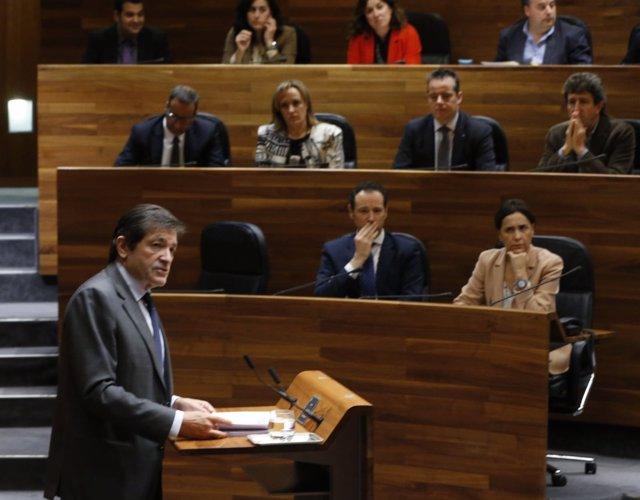 Javier Fernández en el debate de orientación política de Asturias