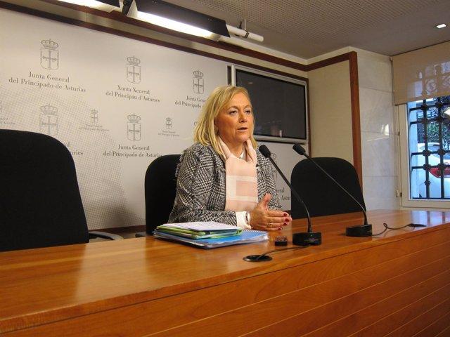 La presidenta del PP en Asturias, Mercedes Fernández