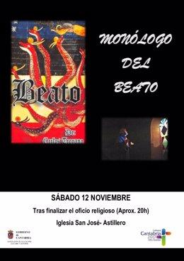 """Nota De Prensa. El Monologo """"Beato"""" Llega A Astillero"""