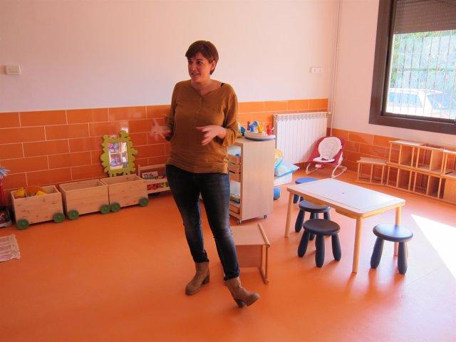 La dtora.Del Centro Socioeducativo Poblenou de la Pere Tarrés, Cristina López