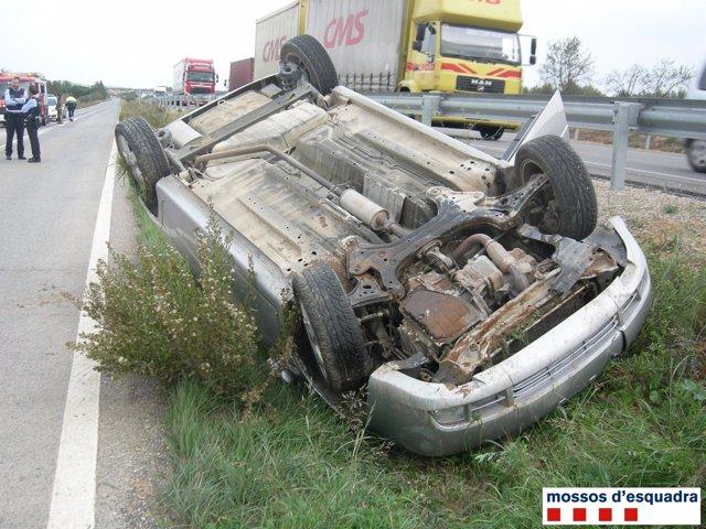 Accidente de un conductor que sextuplicaba la tasa de alcohol