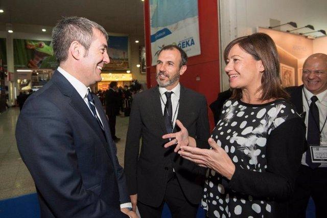 La presidenta del Govern, Francina Armengol; y el presidente de Canarias