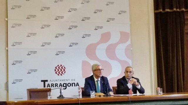 El alcalde de Tarragona Josep Fèlix Ballesteros y Alejandro Blanco (COE)