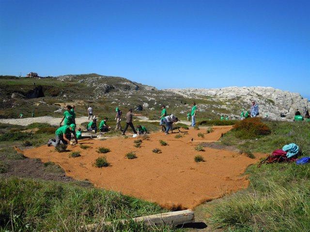 Voluntarios en Rostrío