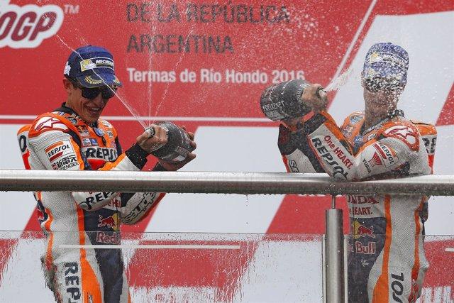 Marc Marquez y Dani Pedrosa