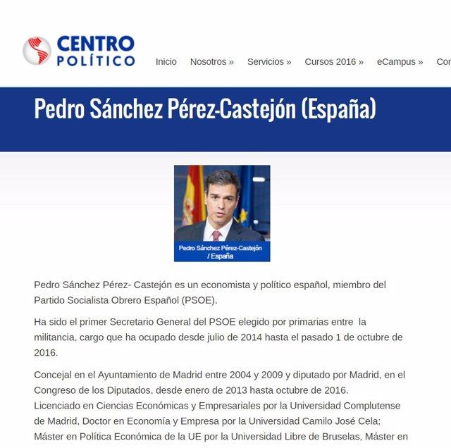 Pedro Sánchez participa en un seminario sobre elecciones EEUU