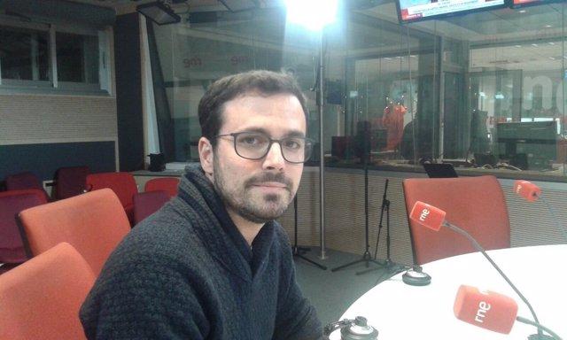 Alberto Garzón, en RNE