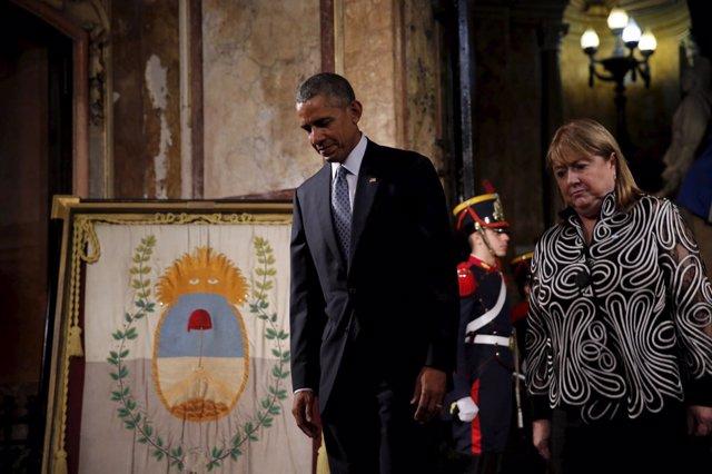 Barack Obama y Susana Malcorra
