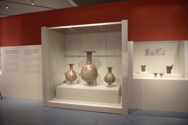 Una de las salas de la muestra sobre 'El arte mochica' en Caixaforum