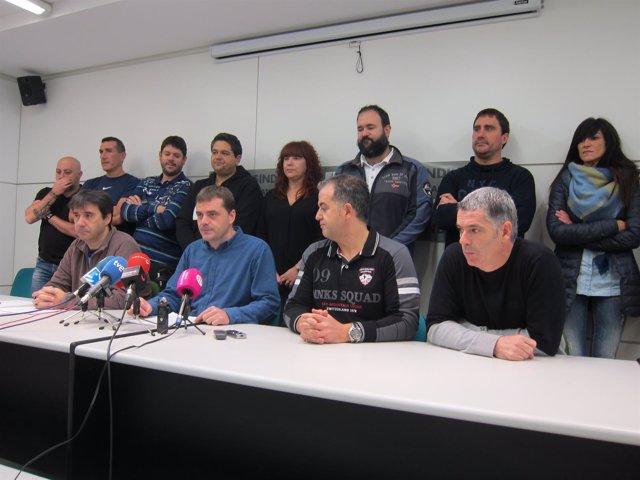 Rueda de prensa del comité de empresa de ZF-TRW de Landaben