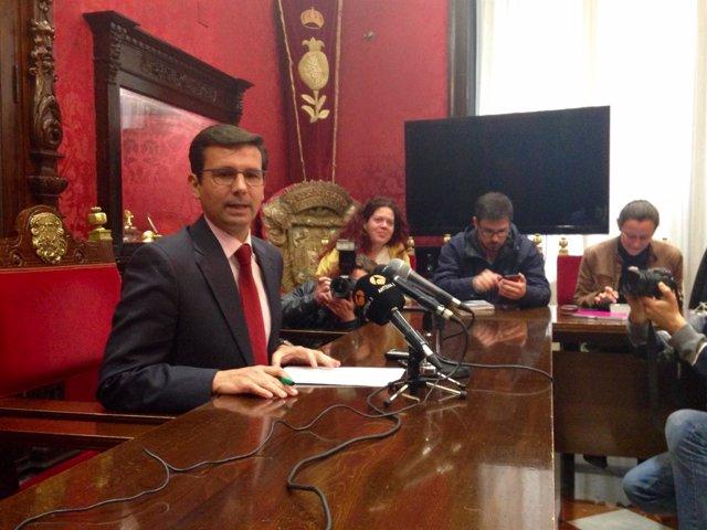 Francisco Cuenca, en rueda de prensa