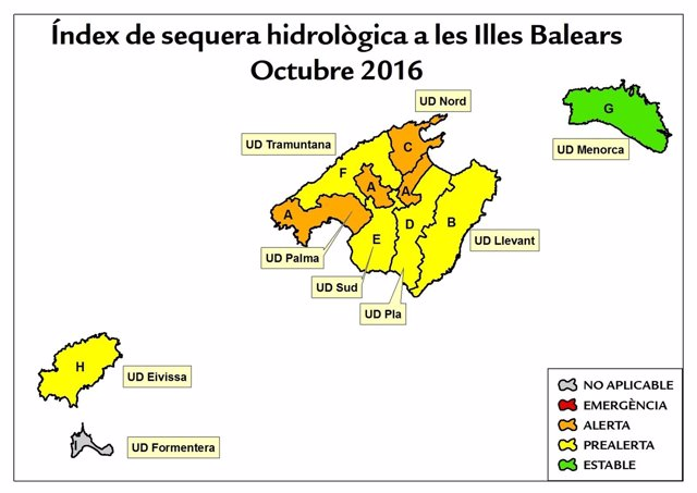 Las reservas hídricas de Baleares