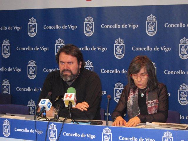 Rubén Pérez en rueda de prensa en Vigo.