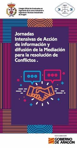 Cartel de la jornada sobre mediación que se celebrará en Teruel este miércoles