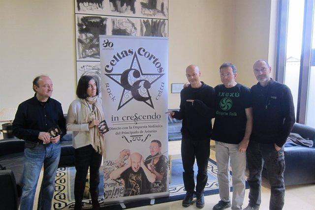 Presentación del disco 'In Crescendo' de Celtas Cortos con la OSPA.