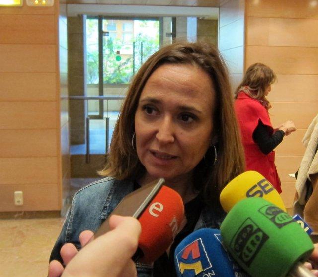 La consejera de Educación, Cultura y Deporte del Gobierno de Aragón, Mayte Pérez