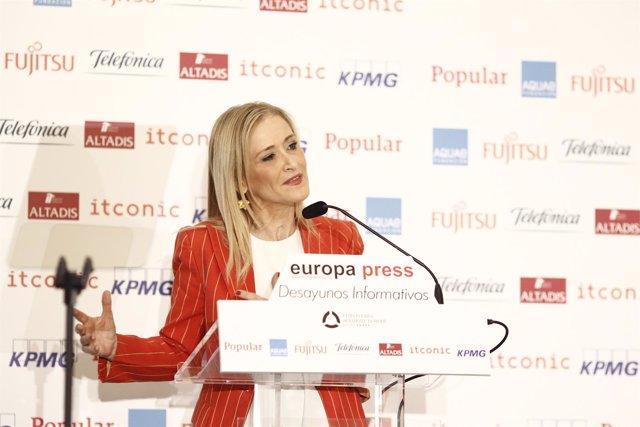 Cristina Cifuentes Protagoniza Los Desayunos Informativos De Europa Press