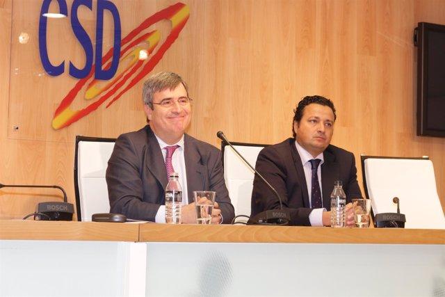 Miguel Cardenal y Óscar Graefenhain en el CSD