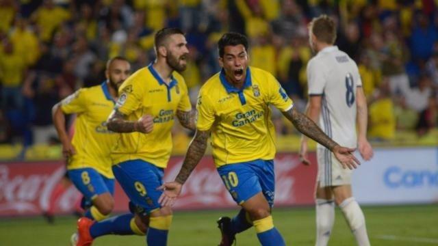 Araujo celebra un gol en Las Palmas - Real Madrid