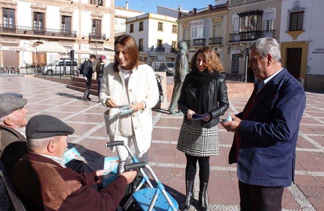 Patricia Navarro PP recogida firmas mari paz fernández ronda campaña sanidad