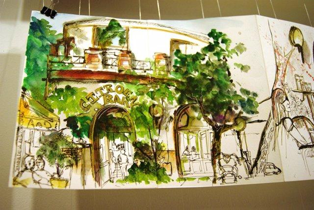 Exposición de 'Urban Sketchers' en la Semana de la Arquitectura de Sevilla