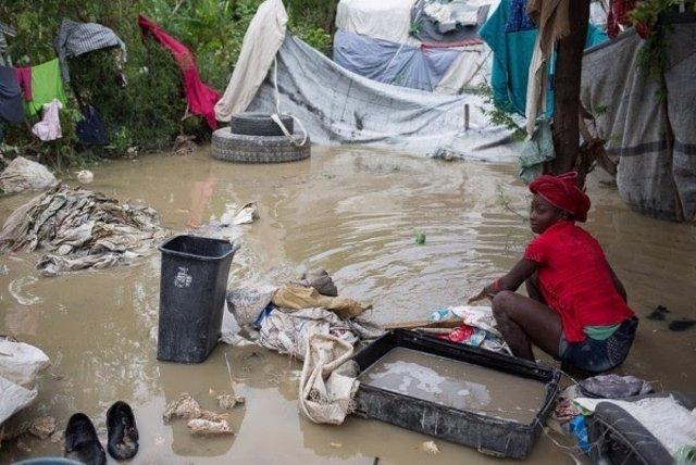 Afectada por el huracán Matthew en Haití
