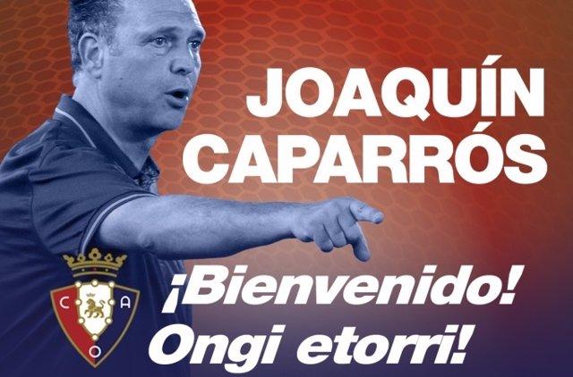 Joaquín Caparrós, nuevo entrenador de Osasuna