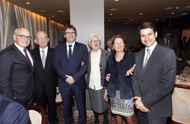 El presidente C.Puigdemont asiste al homenaje de Nèstor Luján