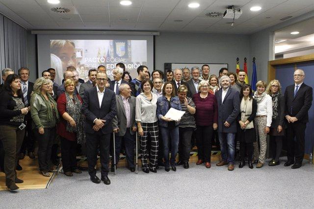El Consejo Escolar de Aragón ratifica el pacto por la educación